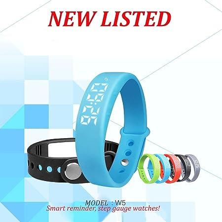 Binko® W5 mtong LED reloj inteligente saludable deportes pulsera Tracker podómetro dormir pasos Calory Temperatura Monitor