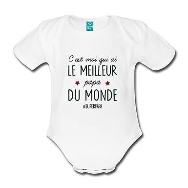 d21de5d501e5a Spreadshirt Fils Fille J Ai Le Papa Body Bébé Bio Manches Courtes   Amazon.fr  Vêtements et accessoires