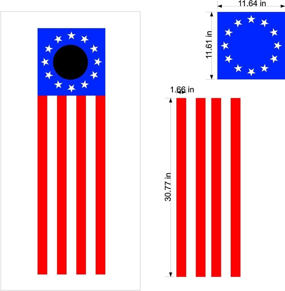 Patriotic Cornholeボードデカールステッカー国旗グラフィックスラップバッグToss Bean Baggo pat12