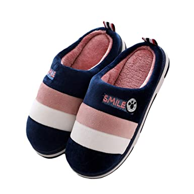 240e3df4f4f8 Amazon.com: Cotton Slippers Artificial Fluff Womens Soft Cotton ...