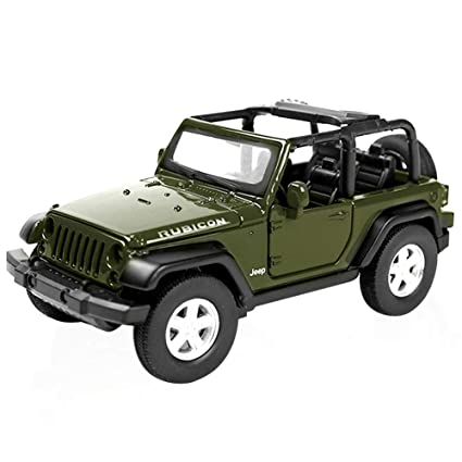 Amazon Com Pull Back Toy Cars 1 32 Jeep Wrangler Rubicon Off Road