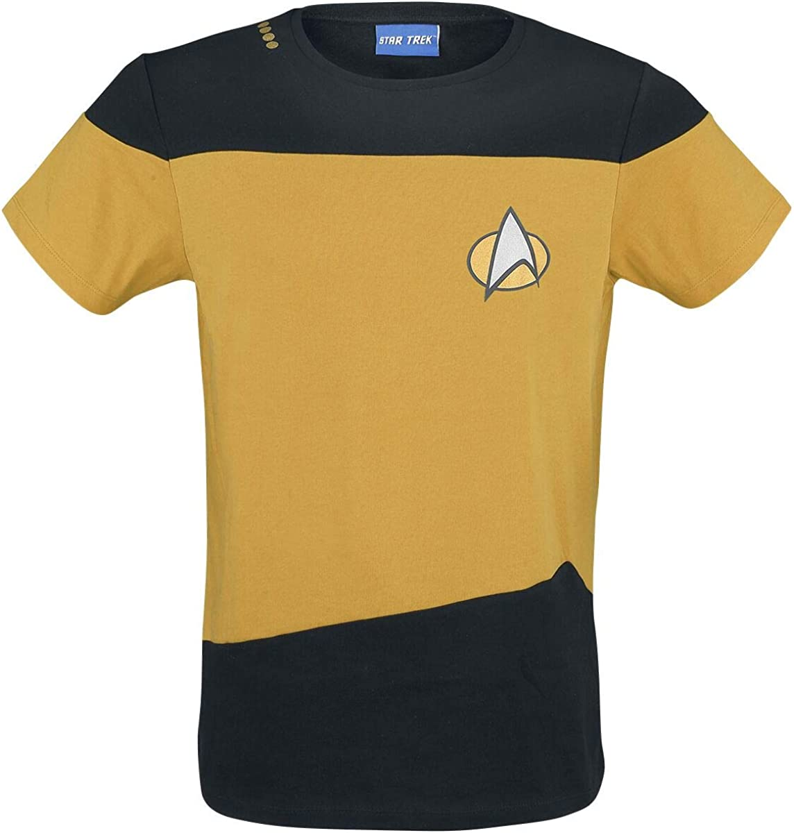 Star Trek Uniform Gelb Camiseta Amarillo/Negro L: Amazon.es: Ropa ...