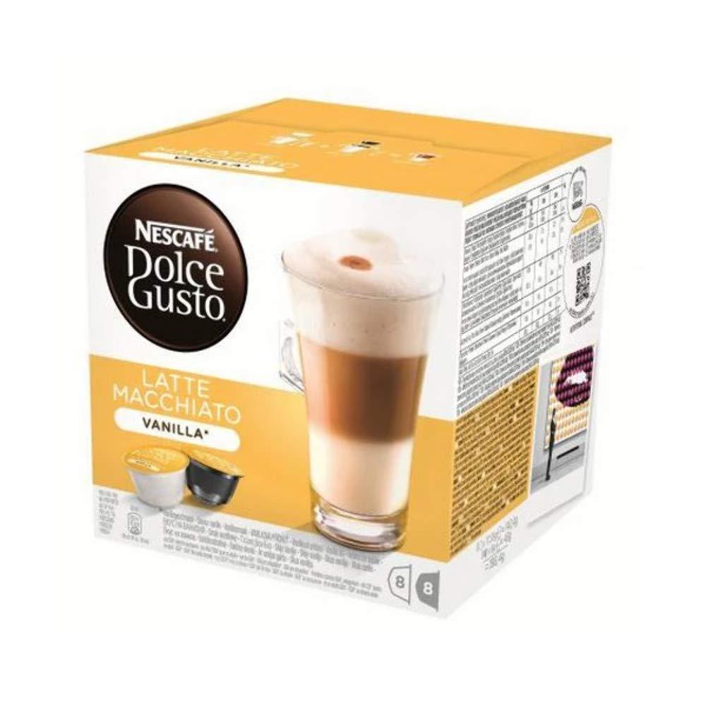 Amazon.com: Nescafe Dolce Gusto Vainilla Latte Macchiato (16 ...