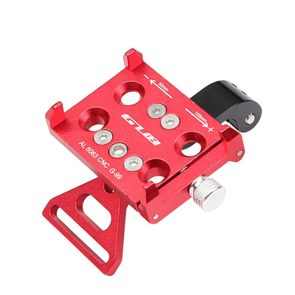 Gub G-99 Aluminum MTB Bicycle Phone Holder Stand Motorcycle Support Motobike GPS Holder Handlebar Mount Bike Accessories GPS (Red)