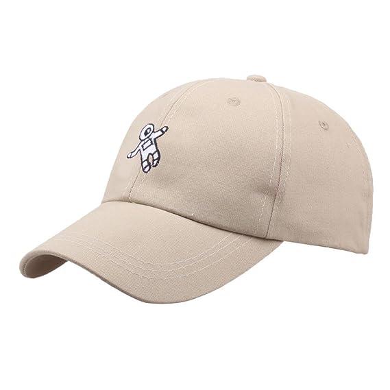 Rovinci Unisexo Sombrero de Moda Astronauta Imprimir Bordado Béisbol  Sombrero Cap (Beige)  Amazon.es  Ropa y accesorios 918f49b7542