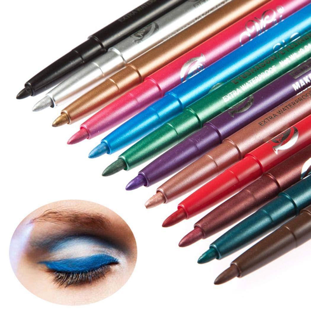 12 Colors Comestic Long Lasting Eye Shadow Eyeliner Pen Eye Makeups