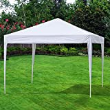 I-Choice 10 x 10 Ft Easy Pop Up Canopy Portable Heavy Duty Ez Outdoor Wedding Party Canopy Tent Patio Shade Shelter (White)