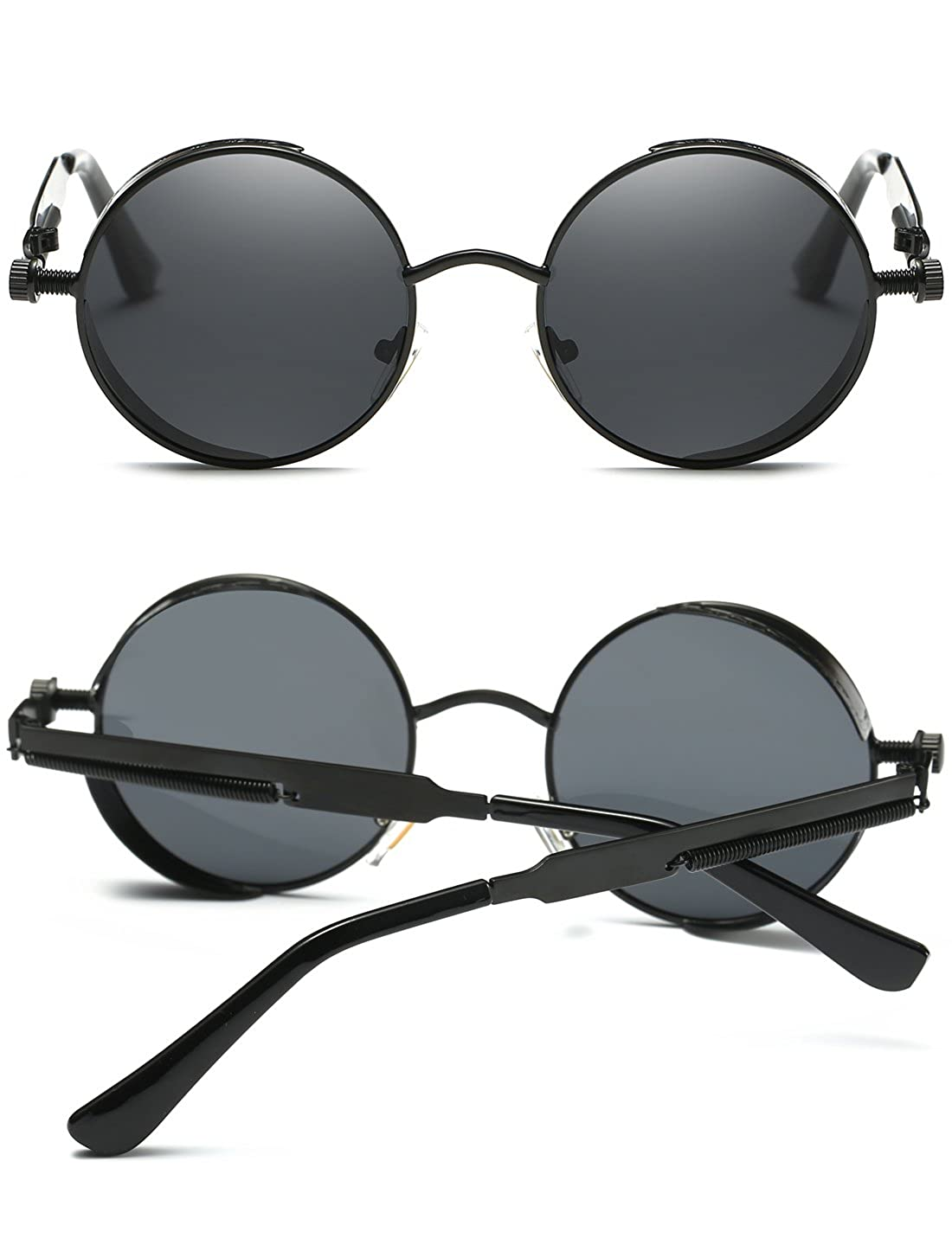d537f1ef35 Joopin-Round Retro Polaroid Sunglasses Driving Polarized Glasses Men  Steampunk