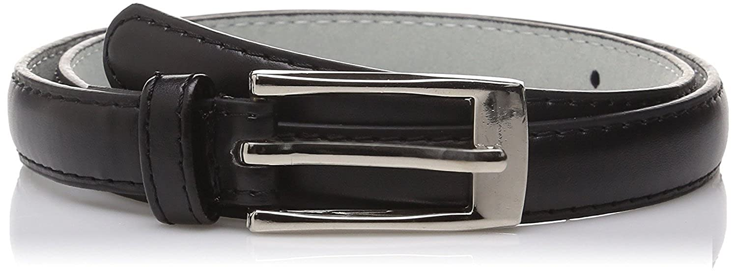 "Hagora Women's Candy Color Slim Thin Genuine Leather 3/4"" Wide Metal Buckle Belt"