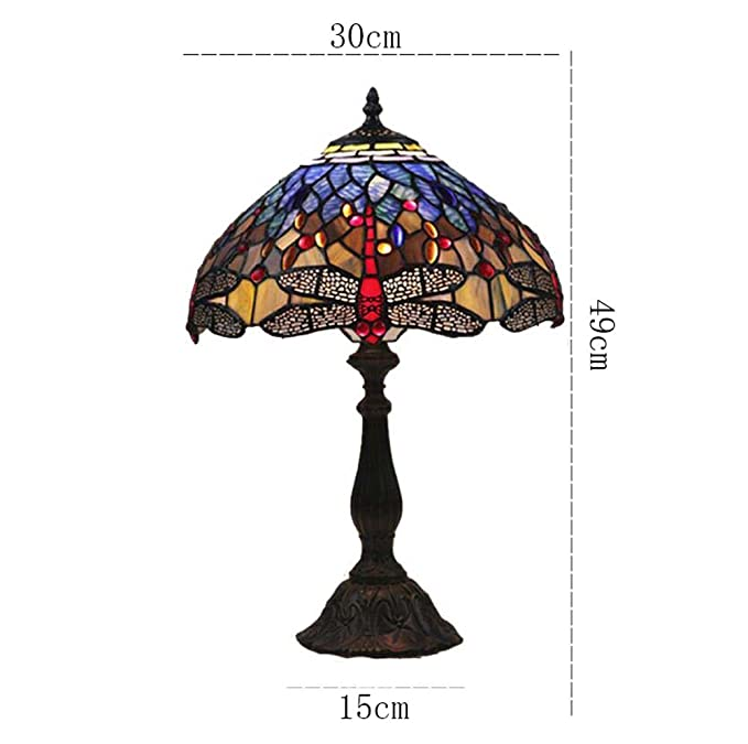 Amazon.com: 12-inch Tiffany Table Lamp Handmade Stained ...