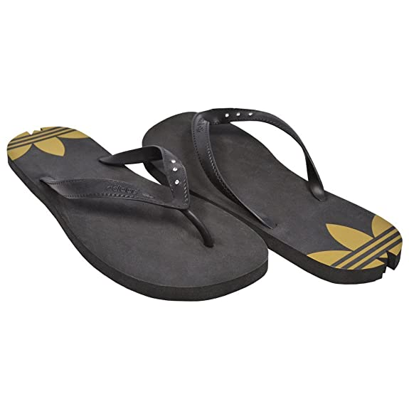 a8fff512a adidas Women s Thong Sandals NOIR OR Black   Gold Size 40.5  Amazon.co.uk   Sports   Outdoors