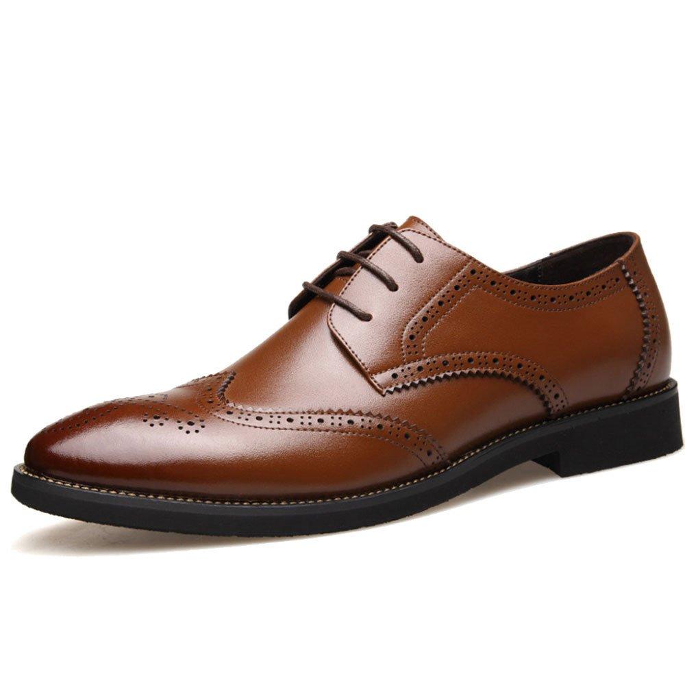 Männer Geschnitzte Business Casual Schuhe Ochse Geschnitzte Männer Atmungsaktive Vintage Formale Arbeit Braun 95db6d