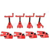 4 Set 26,5 mm Quick-Grip Clamps Set Quick Release Heavy Duty Brede Basis Ijzer Houten Metalen Klemset, Taai Gietijzer…