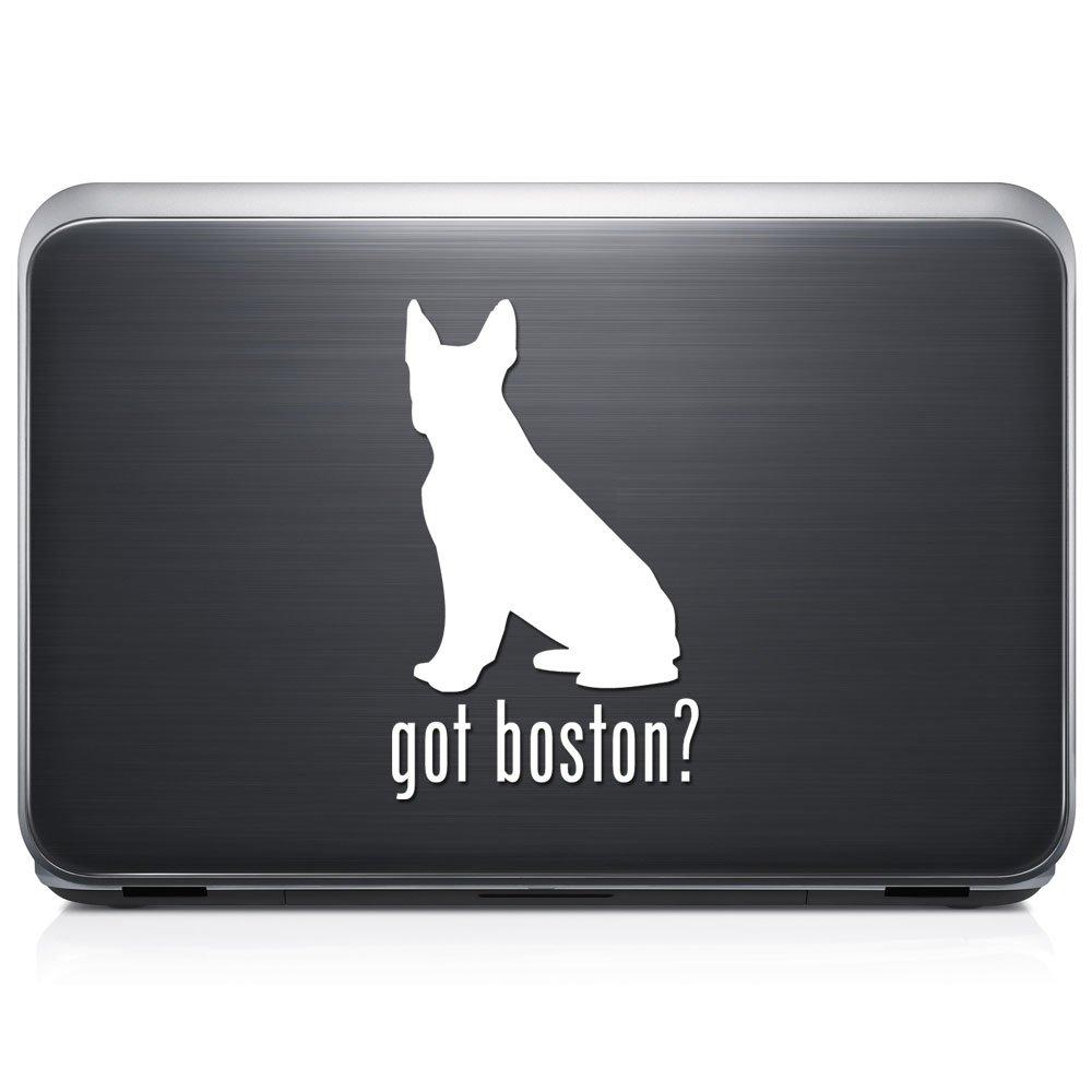 Got Boston Terrier犬ペット取り外し可能なビニールデカールステッカーforラップトップタブレットWindows壁装飾車トラックオートバイヘルメット (12 in / 30 cm) Tall RSGT215-12MWH (12 in / 30 cm) Tall グロスホワイト B076QH33TF