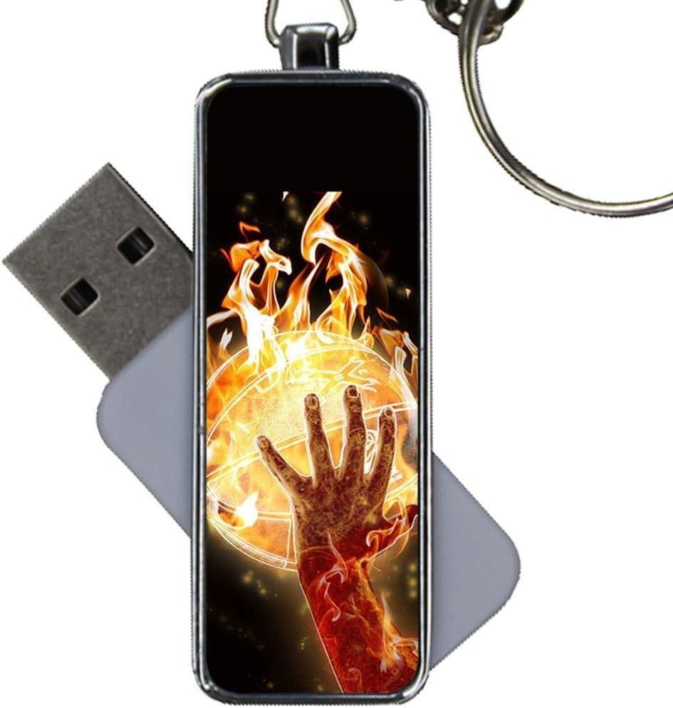 On 8Gb USB Flash Metal Printing Basketball 1 for Kid Shockproof