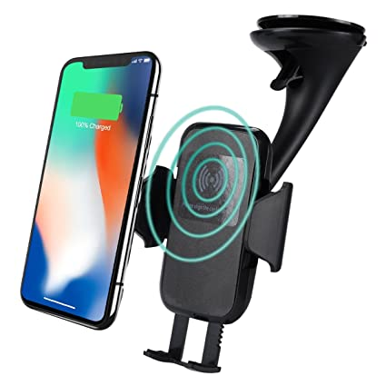 Padcod Wireless Car Charger, QI Fast Charge Adjustable Car Mount for  Android iOS Smart Phones, Compatible for Samsung Galaxy S7/S8/S9/Note  7/Note8,