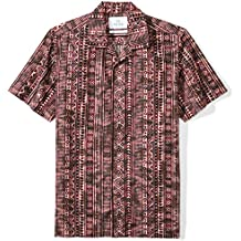 28 Palms Men's Standard-Fit 100% Cotton Tropical Hawaiian Batik Shirt