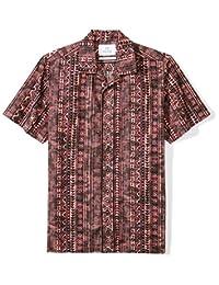 Amazon Brand - Camisa Hawaiana Tropical de algodón 100% con Ajuste estándar de 28 Palmeras para Hombre