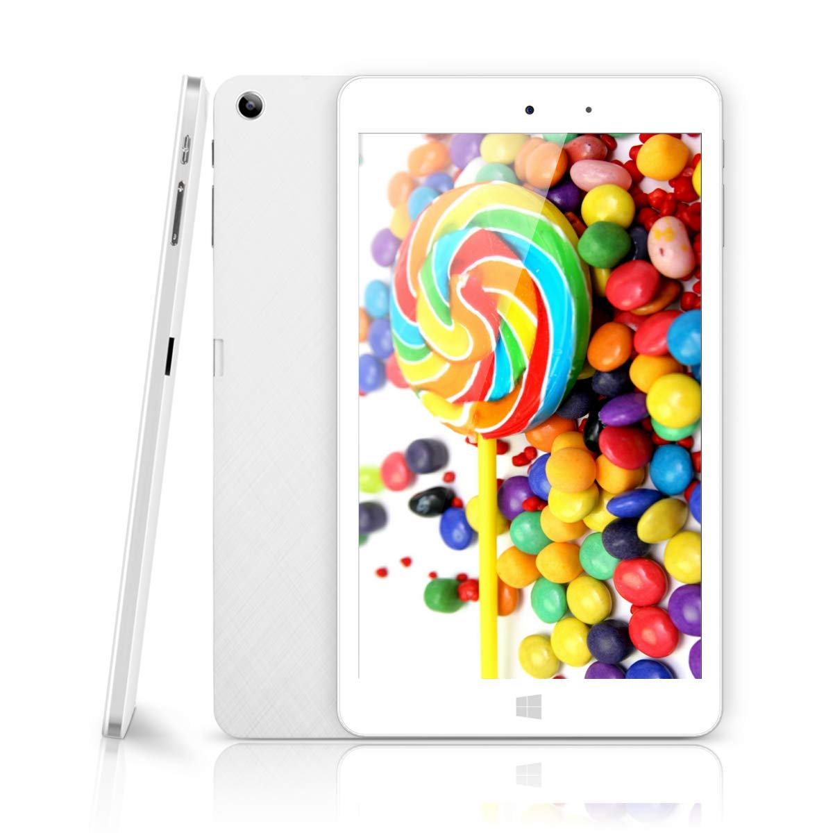CHUWI Hi8 Pro 8 Inch IPS Full HD (1920 x 1200) Screen Tablet PC, with Intel X5 Atom Z8350 Quad Core, Windows 10/Android 5.1,2G RAM,32G ROM eMMC, 2.0M Webcam,Wifi,Type-C and Micro HDMI Port,Kids Tablet by CHUWI