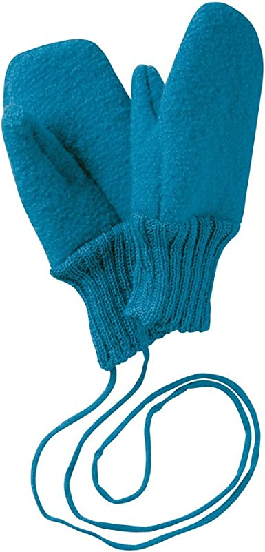 Boiled Wool Gloves blue Disana 34202XX
