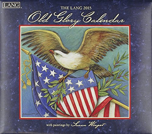 - Lang January to December, 13.375 x 24 Inches, Perfect Timing Old Glory 2015 Wall Calendar by Susan Winget (1001755)
