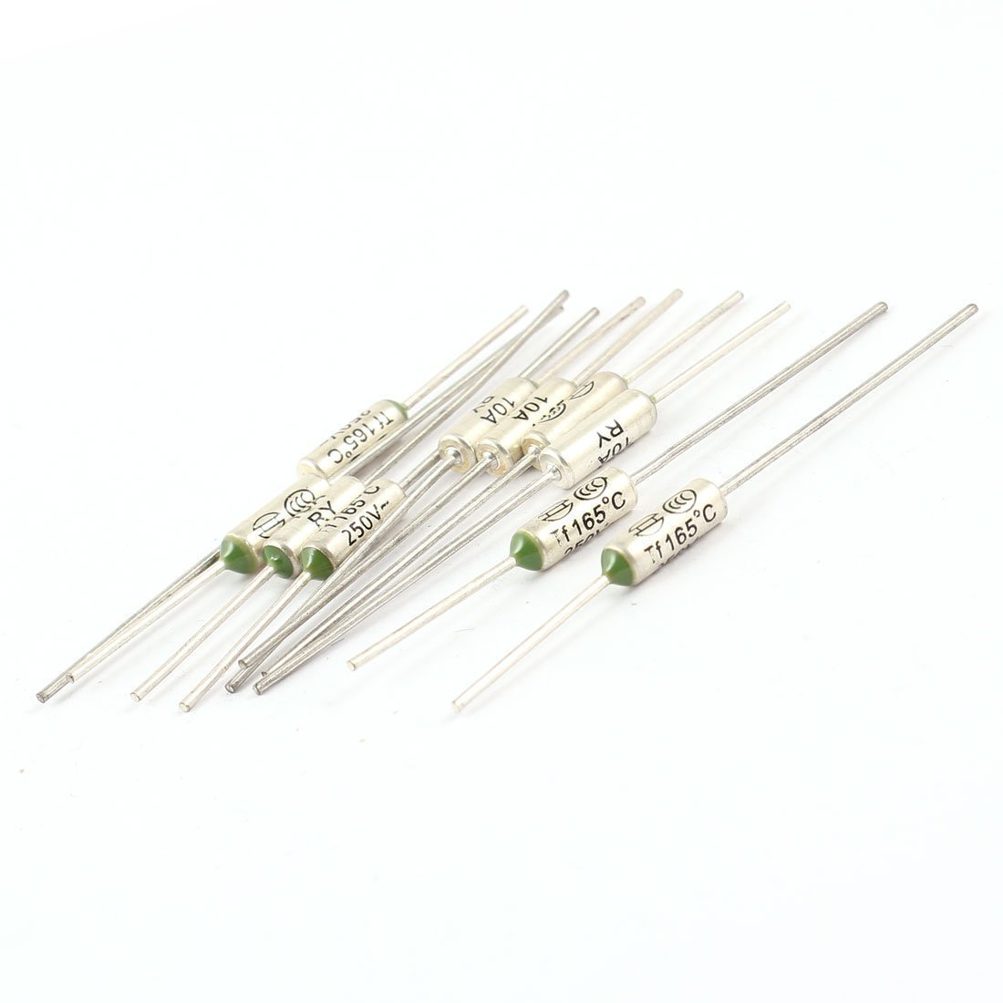 sourcing map 10Pcs Microtemp Aluminium Protection Circuit fusible Thermique 165C 250V 10A