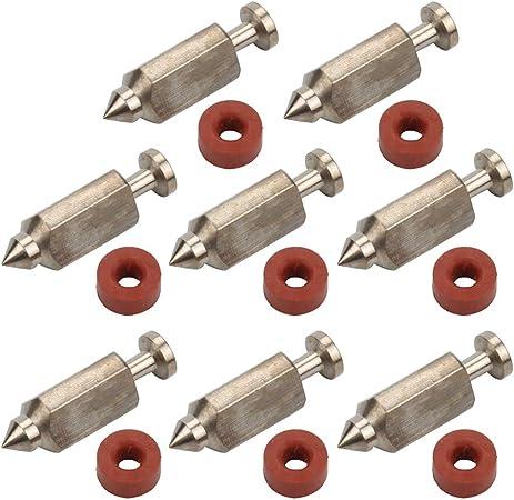 HRui 6 Pack 398188 Carburetor Float Valve Needle Seat Kit 281144 693981 280492