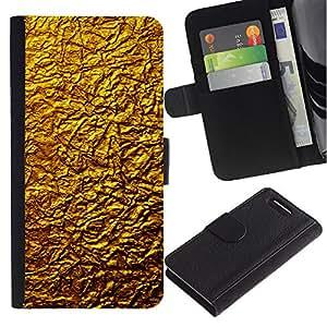 KingStore / Leather Etui en cuir / Sony Xperia Z1 Compact D5503 / Oro Dise?o Architecture Pared Material de Arte