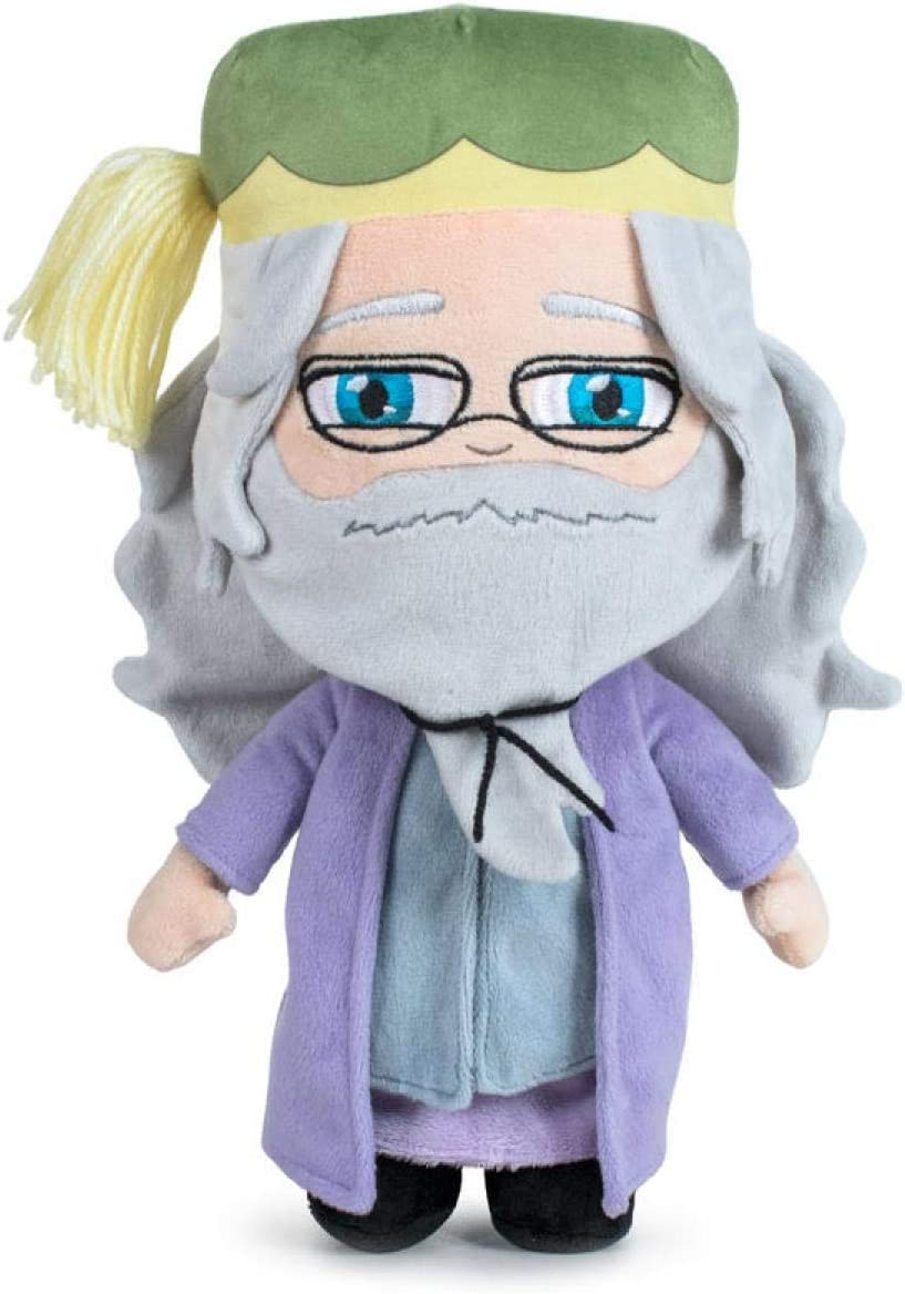 Wizarding World Pack 4 Peluches 20cm Harry Potter Ministerio de Magia + Ron Weasley + Dumbledor + Hedwing Calidad Super Soft