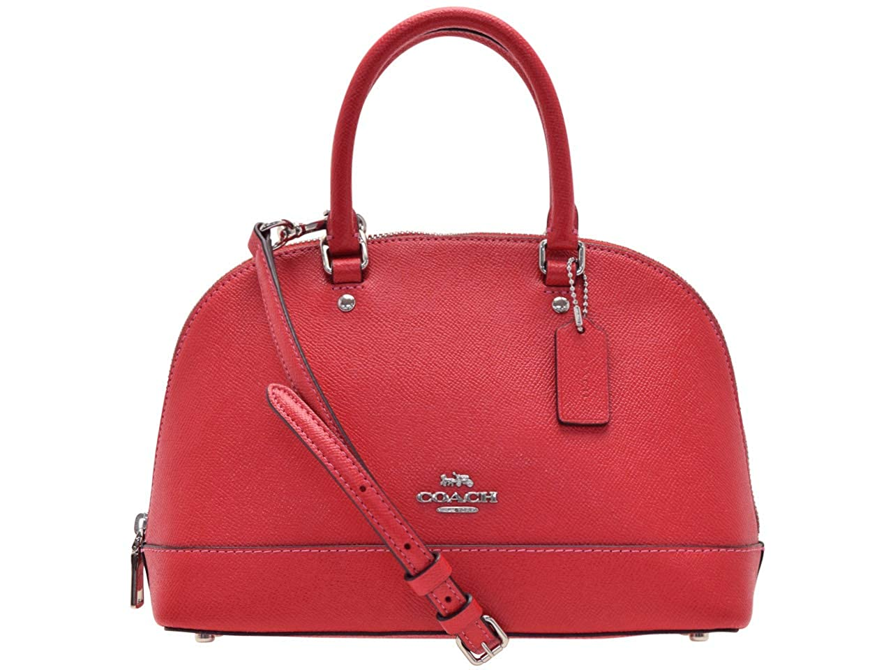 6e005b1e1086 Details about NWT COACH Leather Mini Sierra Satchel Crossbody Bag Purse  F27591 BRIGHT RED