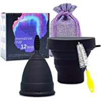 SPEQUIX Portable Silicone Menstrual Cup Set with Sterilized Cup Reusable Period Cup Soft, Flexible, Reusable Medical…