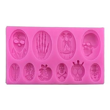 Moldes de silicona para fondant de Halloween, moldes para magdalenas, galletas, moldes para decoración de pasteles, manualidades y repostería, ...
