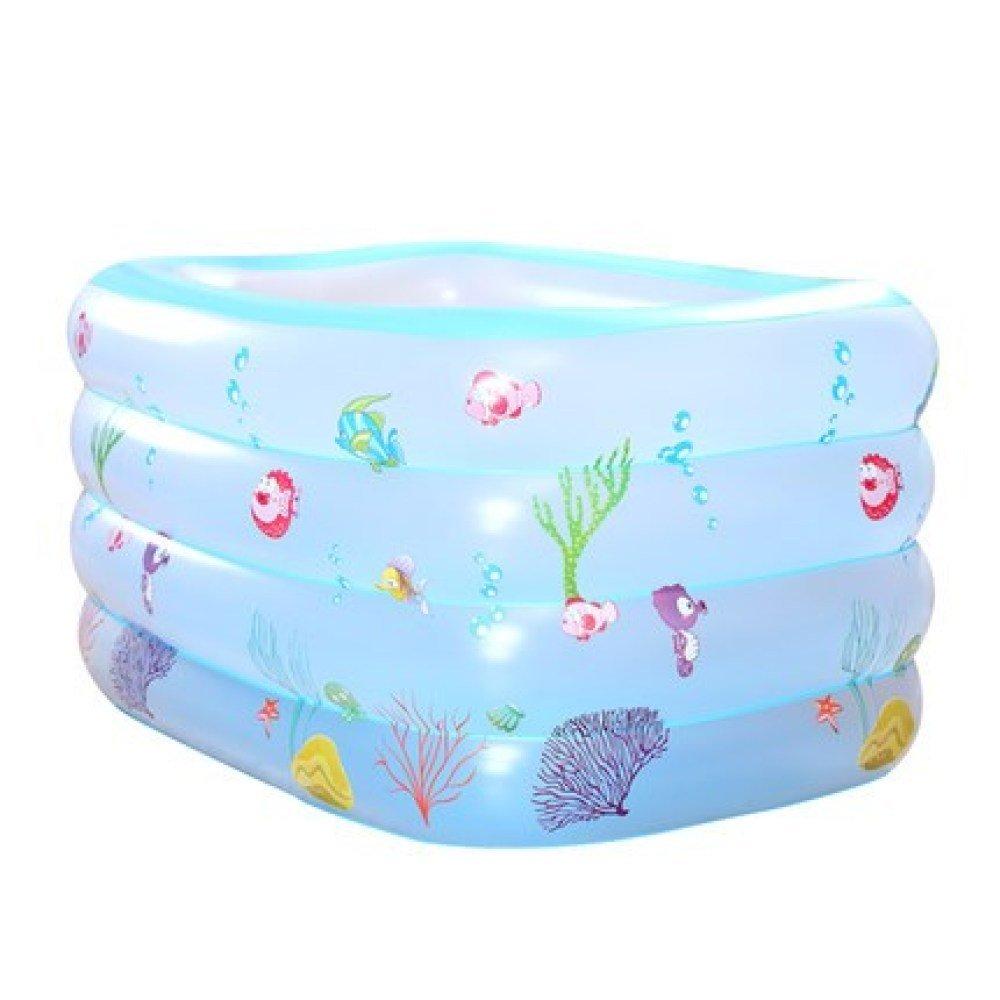 Piscina Familiar Inflable Cubo De La Natación De La Familia del Bebé Cubo Plástico del Baño del Bebé Que Dobla La Piscina Interior Y Al Aire Libre Barril De Baño Familiar,Blue