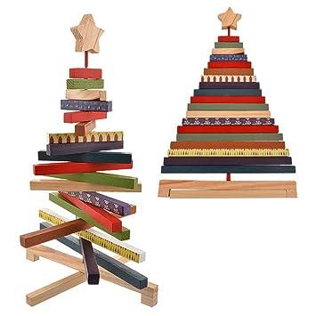 Nibesser Weihnachtsbaum Holz Tisch Deko Weihnachten Baum Dekoration
