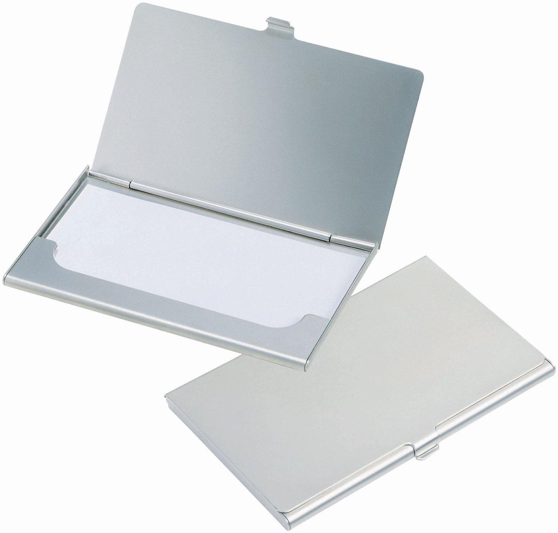 Amazon.com : UNMCORE Stainless Steel Card Holder Slim Wallet Sleek ...