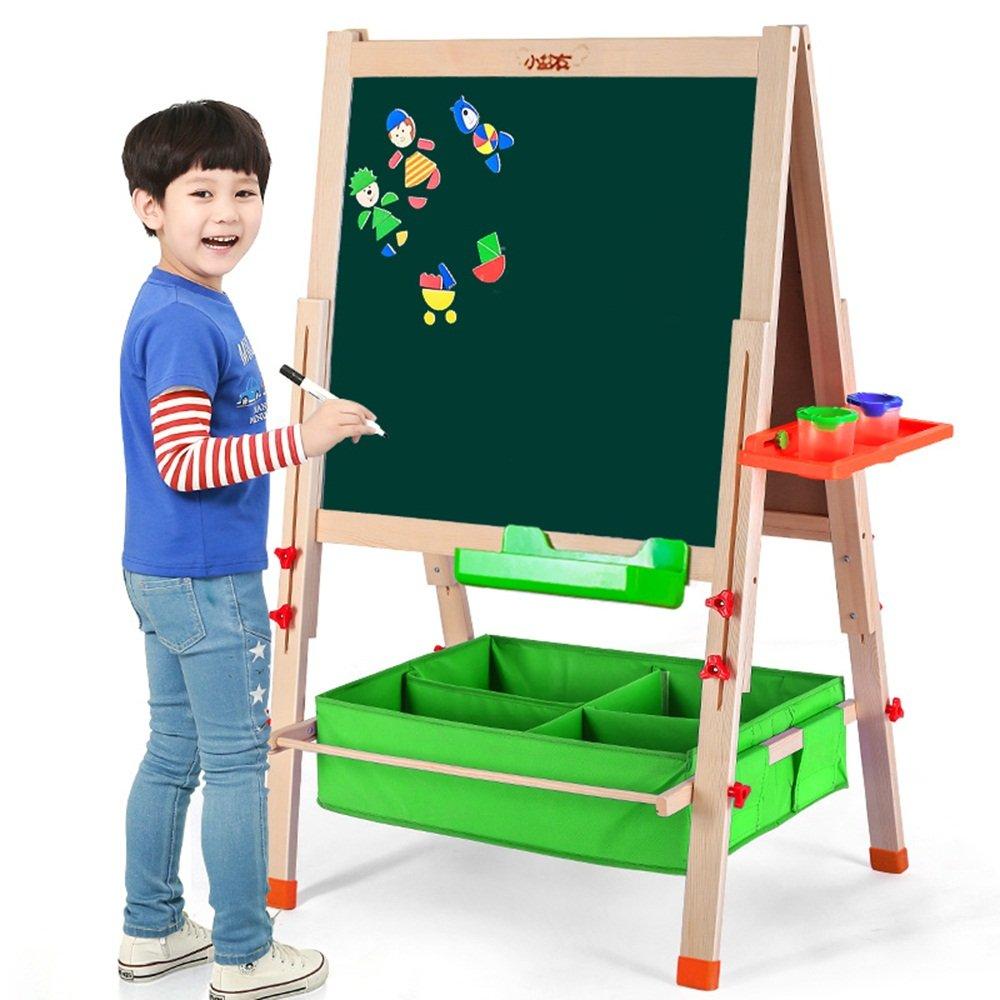 ALUP- 子供の木材黒板ホワイトボードサイドボード、家庭折りたたみブラックボードの足場垂直描画ボード(高さ156cm)   B07L87QTZZ