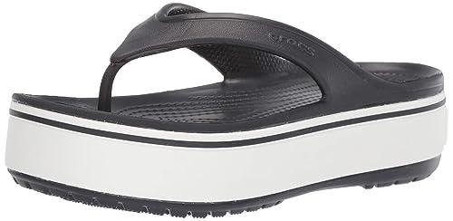 94213ff6ad66 Crocs CrocbandTM Platform Flip Flops-Choose Size Color Black White ...