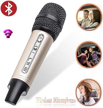 Micrófonos Inalámbricos,Mini Micrófono Para Auto Micrófono Inalámbrico Micrófono Inalámbrico Bluetooth FM Para Teléfono Móvil Micrófono Karaoke Aparatos De Audio Y Video Para Autos (Color : Golden) : Amazon.es: Electrónica