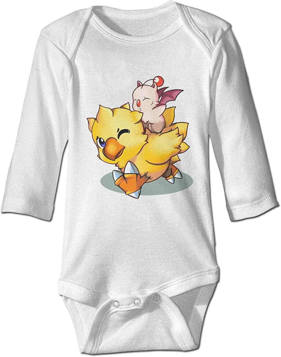 VEGAS Final Fantasy Mog and Chocobo Unisex Long Sleeve Cotton Baby Onesies Bodysuits