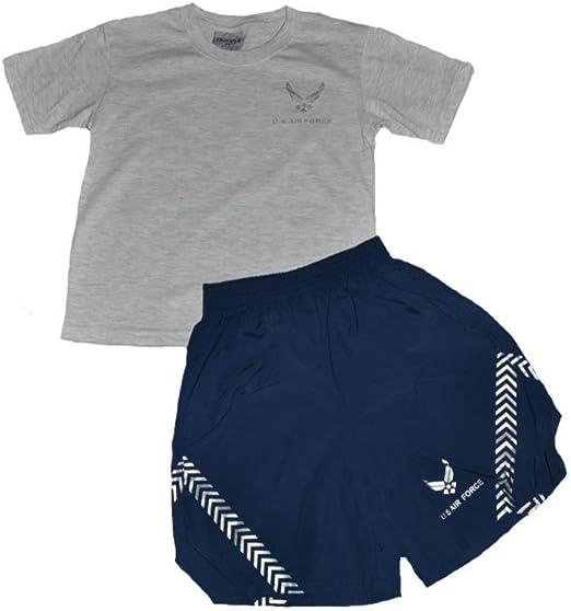 Air Force Kids PT Short Set 2 Pc Gray Navy Trooper Clothing U.S