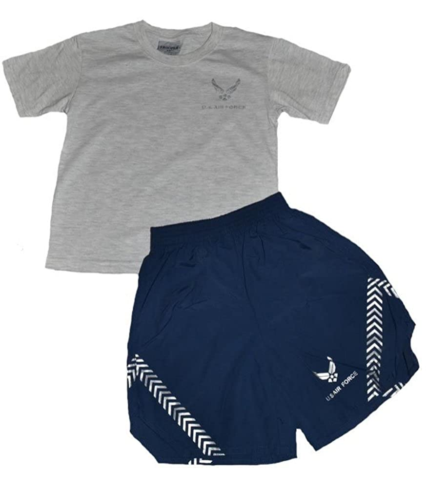 d1ec03e1 Amazon.com: U.S. Air Force Kid's PT Short Set 2 Pc Gray Navy: Clothing
