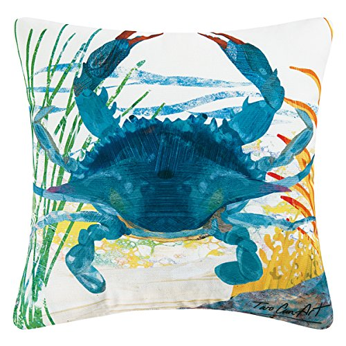 C&F Home Indoor/Outdoor Throw Pillow, Blue Crab
