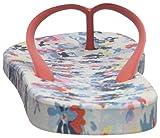 Joules Women's Flipflop Flip-Flop, Cream Garden