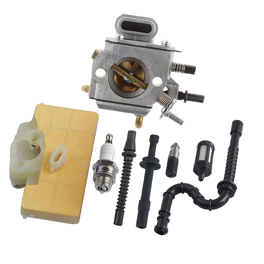 Sharplace Filtre à Air Primer Ampoule Carburant Bougie d'allumage Tronçonneuse pour STIHL MS290 MS310 MS390 029 039