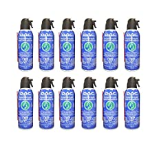 DAC Pressurized Air Duster, Compressed Air Duster 10 oz. 100% Ozone Safe CC-18 - 12 Pack