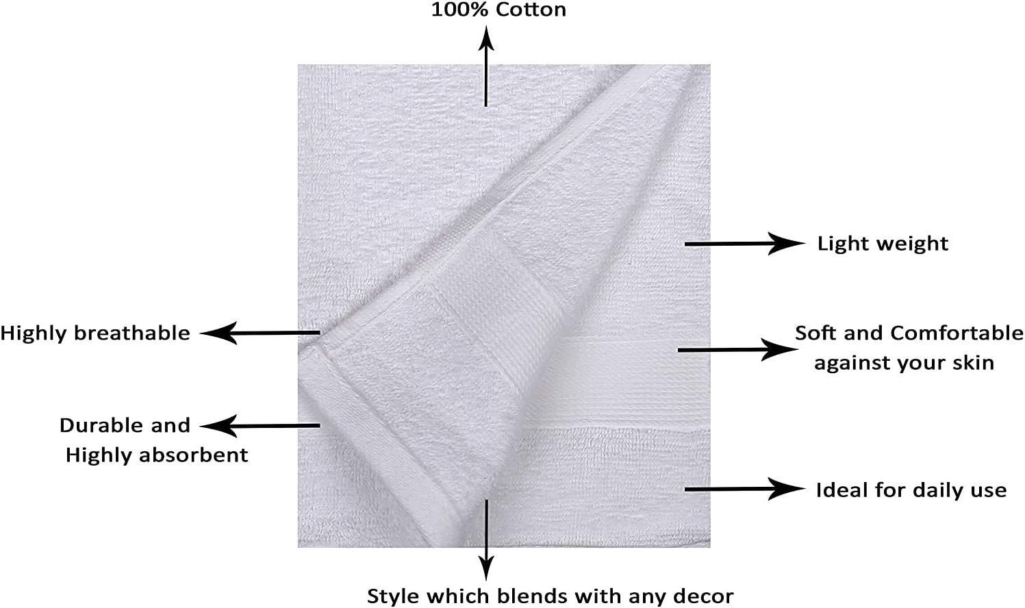 Luxury Towels for Daily Use RAJRANG BRINGING RAJASTHAN TO YOU Cotton Hand Towels for Home And Kitchen 71x41 cm Soft Towels for Men And Womens Yellow And Black Color