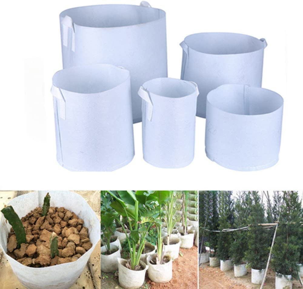 BraveWind 6 PCS 17 Gallon Garden Grow Bags Fabric Pots Plant Pouch Round Container Root Aeration Pot Planter with Handles