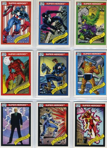 1990 Impel Marvel Universe Series-I 162-Card New Complete Base Set in Collector Pages