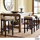 Renate Counter Stools with Coffee-colored Wood (Linen) For Sale