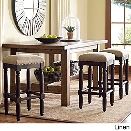 Remarkable Renate Counter Stools With Coffee Colored Wood Linen Ibusinesslaw Wood Chair Design Ideas Ibusinesslaworg